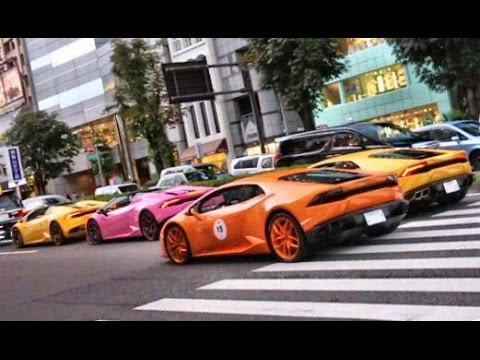 東京都内がランボルギーニだらけに Only Lamborghinis sound compilation in Tokyo.
