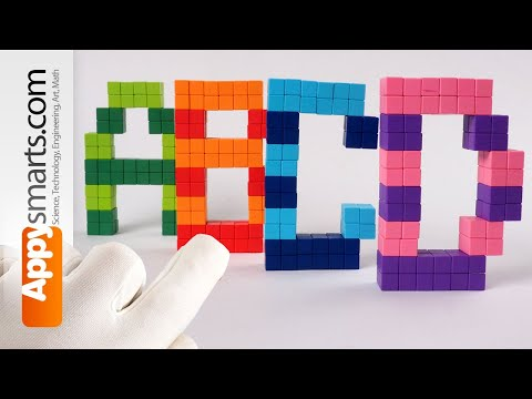 [Made For Kids] Make Blocky ABCD Letters - Magnetic Alphabet Tutorial