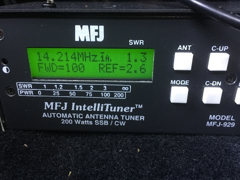 Repeat MFJ-929 Antenna Tuner - Unboxing and Setup - Mobile