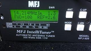 mfj 929 antenna tuner unboxing and setup mobile hf ham radio