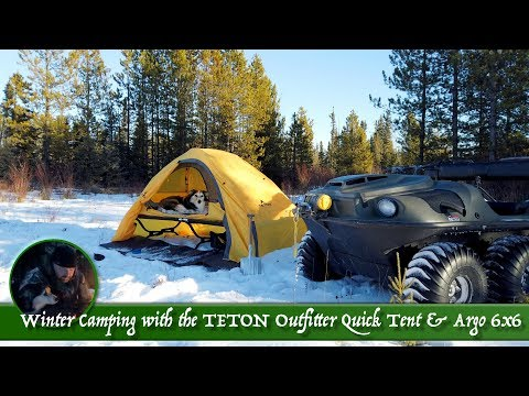 Winter Camping With The TETON Outfitter XXL Quick Tent & Argo 6x6