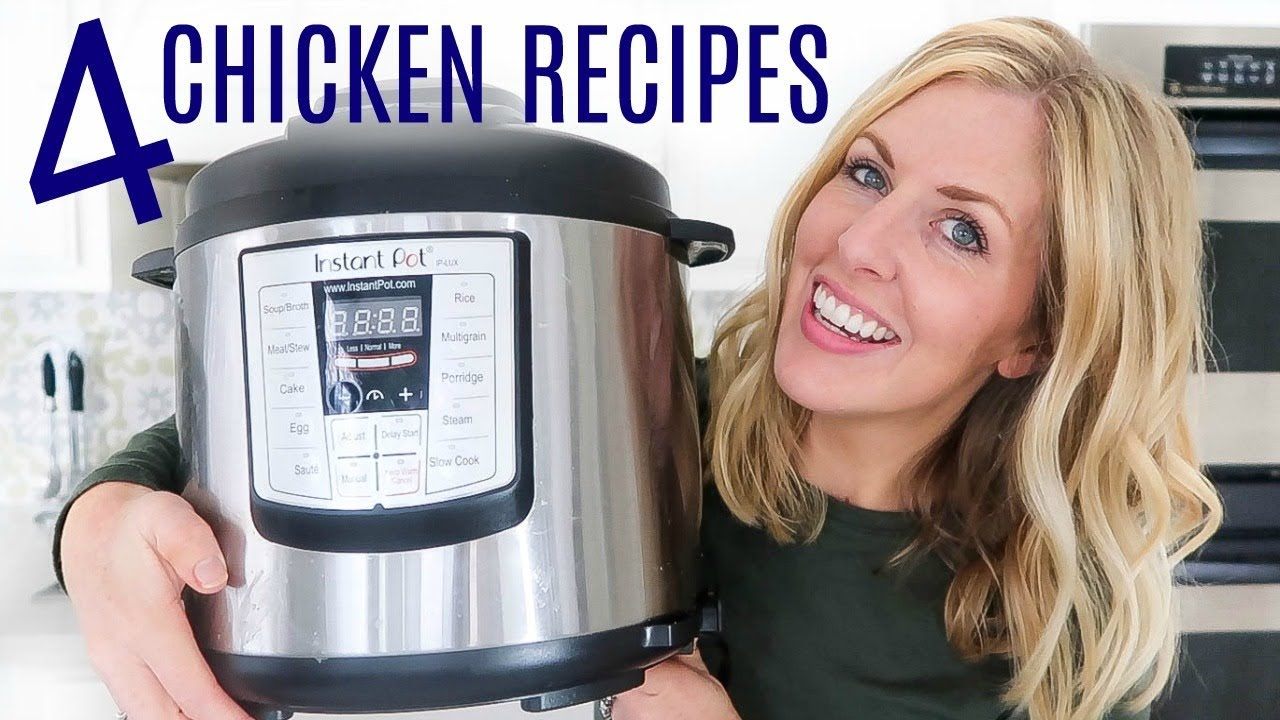 4 EASY Instant Pot Chicken Recipes - Perfect for Beginners