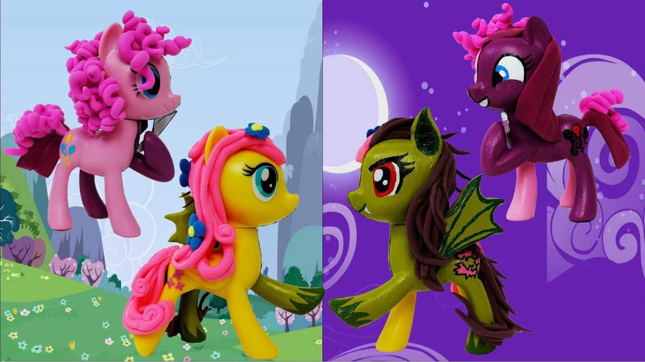 PINKAMENA FLUTTERBAT AND APPLE ANIMATRONIC Customs-Makeover My Little Pony figures