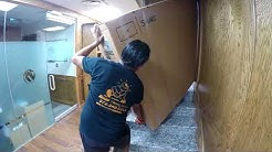 """How to Move a Smart Board TV 82"""" 205-lbs Upstairs in Carrollton,TX   Rescue Movers"""