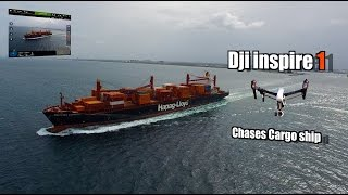 Dji inspire 1 Cargo ship Chase 4K video