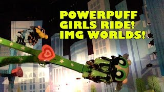 Powerpuff Girls Spinning Ride Onride POV IMG Worlds Dubai UAE