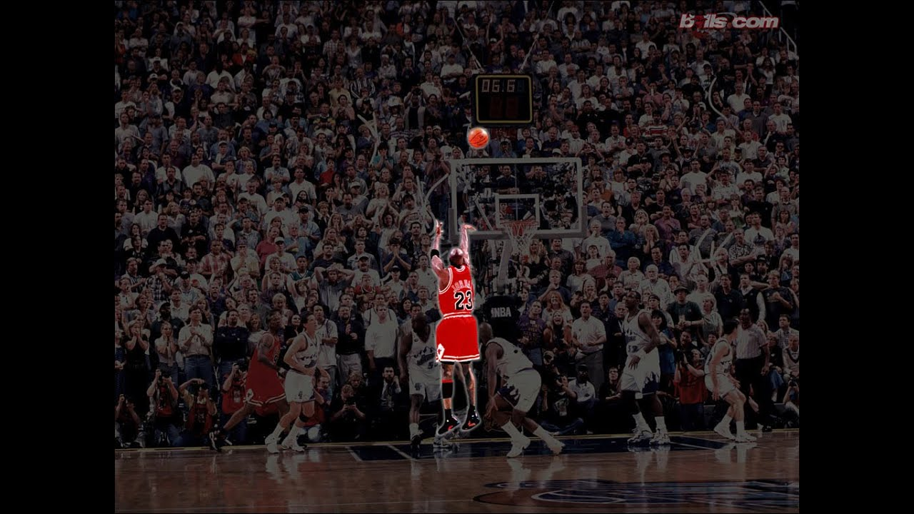 1998 NBA Finals game 6 Michael Jordan 45 pts vs Karl Malone 31 pts All field goal attempts - YouTube