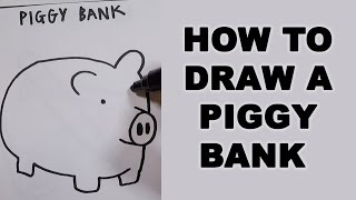 How to Draw a Piggy Bank