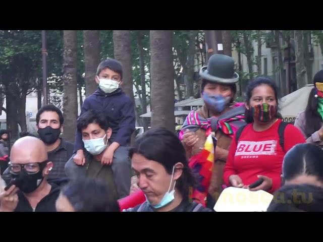 Concentració solidària amb el Paro Indefinido de Colòmbia