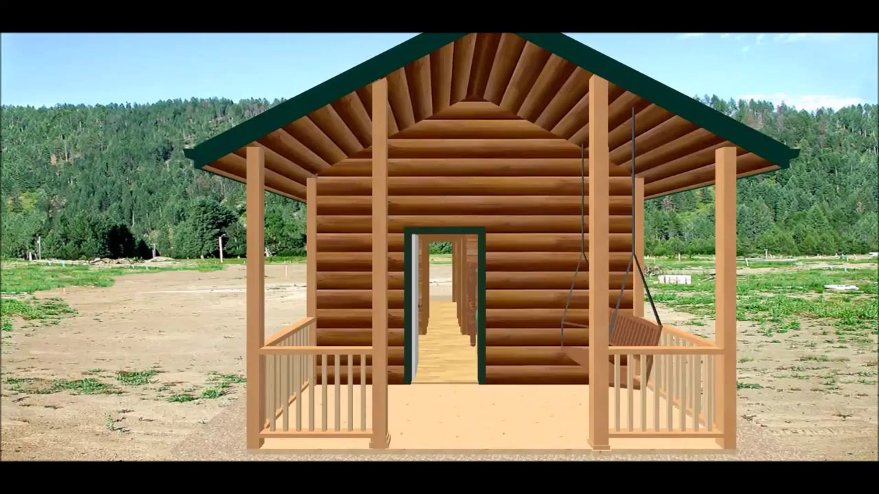 Conestoga log cabin kit tour elk lodge with bath 27 39 x for Stili di log cabin