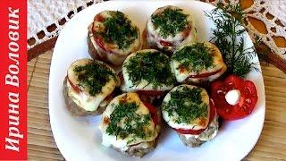 Праздничные рецепты. Котлетки с помидором и сыром.