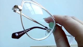 Лисички, кошачьи глазки, очки для зрения, металлическая оправа