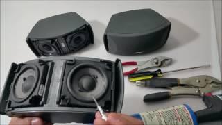 """Quá Trình """" Phá Án""""  Em Loa Bose  3-2-1 ( how to take off Bose 3-2-1 speaker cover ? )...Video # 86"""