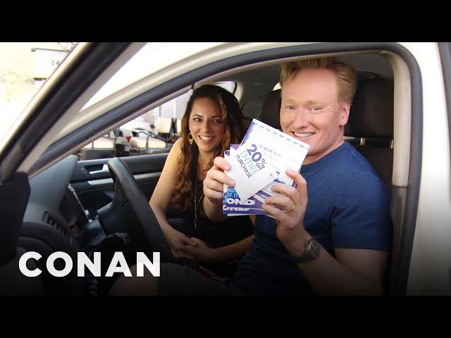 Conan Helps His Assistant Buy A New Car  - CONAN on TBS