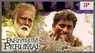 Pariyerum Perumal Movie Super Scene | Kathir questions Marimuthu | Karate Venkatesan