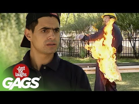 Butt on Fire Prank - Just For Laughs Gags