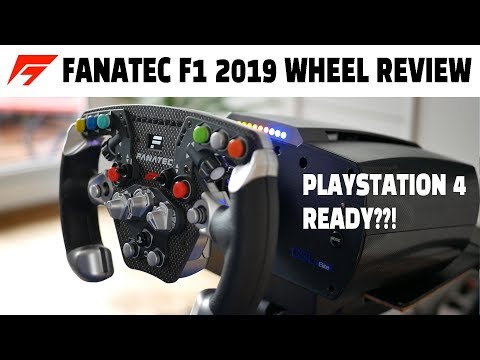 Fanatec ClubSport F1 2019 Wheel Unboxing & Review Simracing Setup for PS4