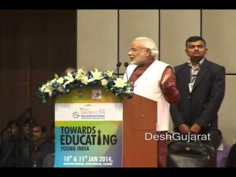 Narendra Modi addresses National Education Summit in Gujarat capital