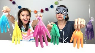 DESAFIO DO SLIME COM 3 CORES DE COLA!! (3 Colors of Glue Slime Challenge)