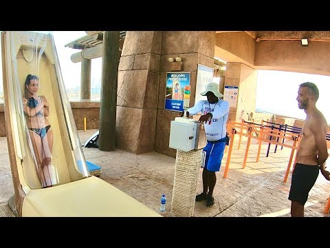 Aquaventure Waterpark Dubai – Trapdoor Waterslide – The Poseidon's Revenge
