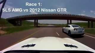 mercedes sls vs gtr m6 sl63 amg hd 720p