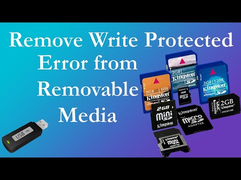 Removing Write Protected Error from Removable Media