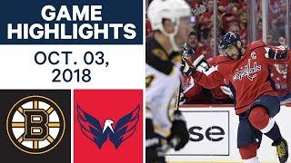 NHL Highlights | Bruins vs. Capitals - Oct. 3, 2018