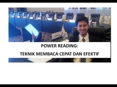 Motivasi Belajar #4 POWER READING: TEKNIK MEMBACA YANG CEPAT DAN EFEKTIF