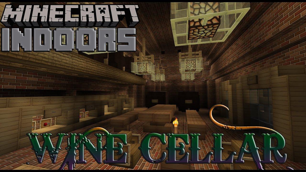 Wine Cellar  Minecraft Indoors Interior Design  YouTube