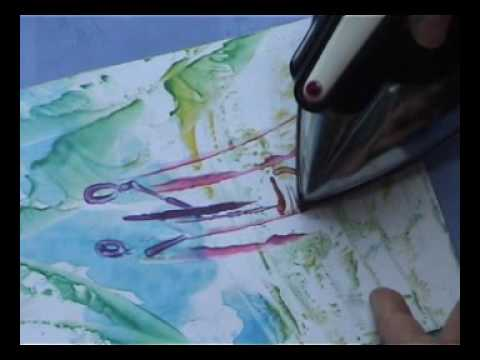 Peindre au fer repasser les personnages how to paint with an iron youtube - Tissus a coller au fer a repasser ...