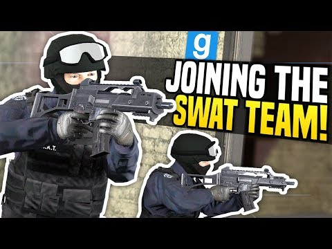 JOINING THE SWAT TEAM - Gmod DarkRP | Taking Out Bounty Hunters!