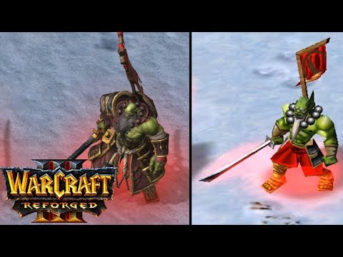 Warcraft 3 Reforged Orc Units Old Vs New COMPARISON REACTION VIDEO