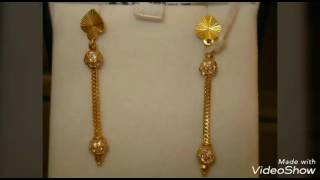 Pure Gold Earrings|Light Weight|Stunning|Designs For Daily Wear