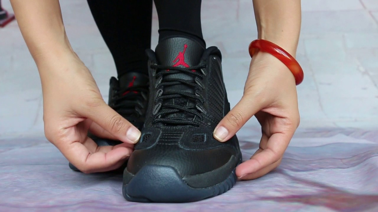 2a4880b1d05eef On Foot Review of Air Jordan 11 Low IE Referee - YouTube