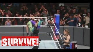 Carmella & Jax vs Ronda Rousey & Bayley 2 on 2 Battle to Survive Match GDW Battle to Survive 2018