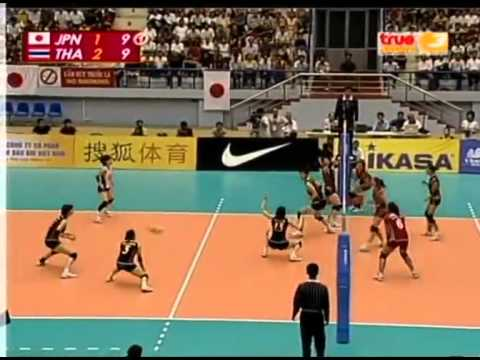 set 4/4 : Thailand VS Japan Semi-Final 15th Asian Women's Volleyball Championship 2009