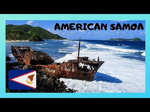 AMERICAN SAMOA, 60 yr old shipwreck battered by the waves and the storms