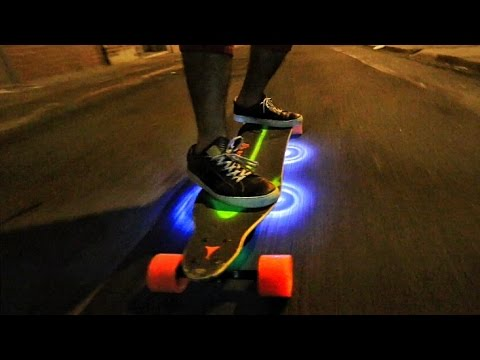 Thumbnail: Custom LightUp Motorized SkateBoard