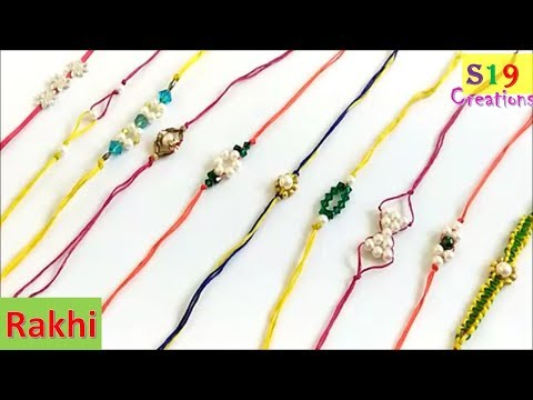 Easy rakhi making ideas | handmade rakhi |how to make rakhi at home | rakshabandhan | Rakhi | part 1