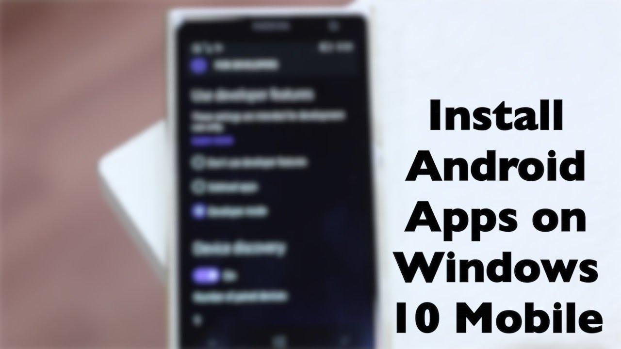 How to install android apps on windows phone 8