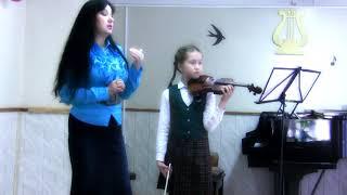Берио Концерт № 9 Урок с  ученицей 4-го класса Марининой Олесей