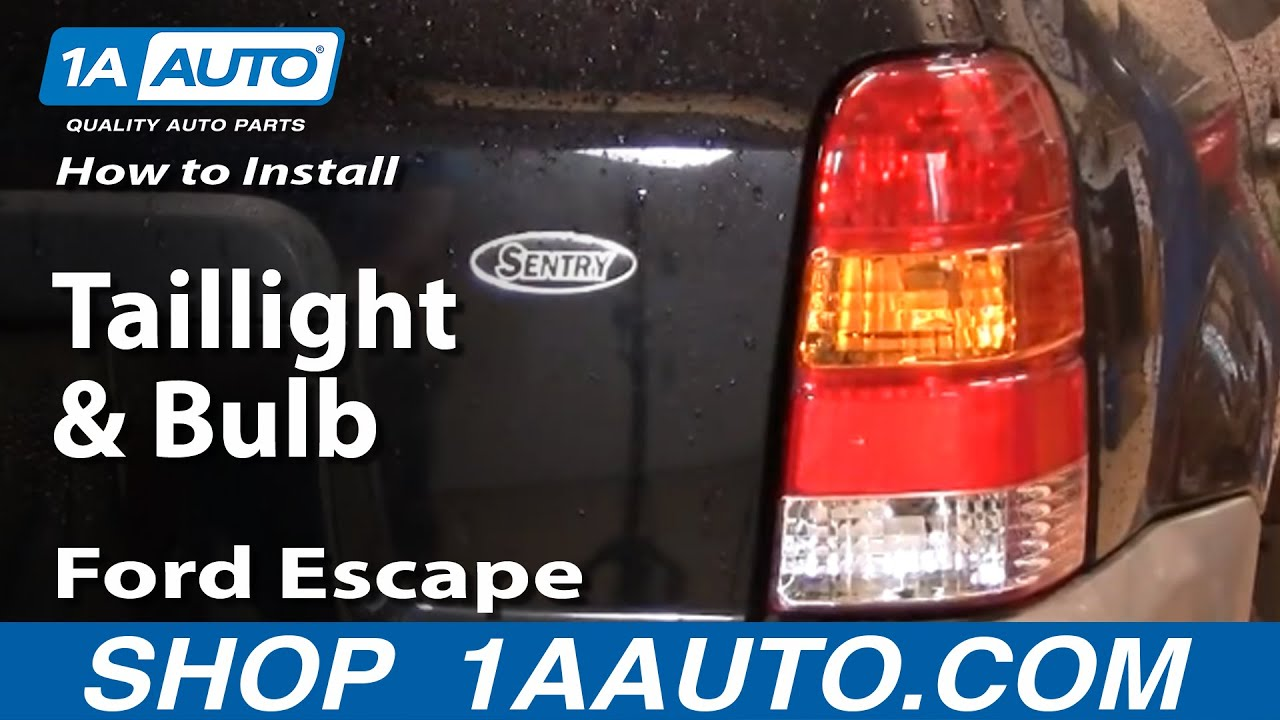 How To Replace Tail Light 01 07 Ford Escape Youtube