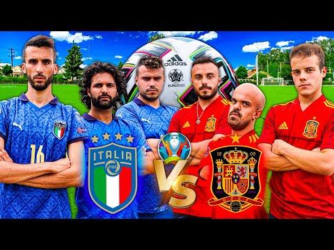 ⚽ ITALIA vs SPAGNA   COME FINIRÀ? EURO 2020 FOOTBALL CHALLENGE