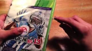 MADDEN NFL 13 XBOX 360 unboxing