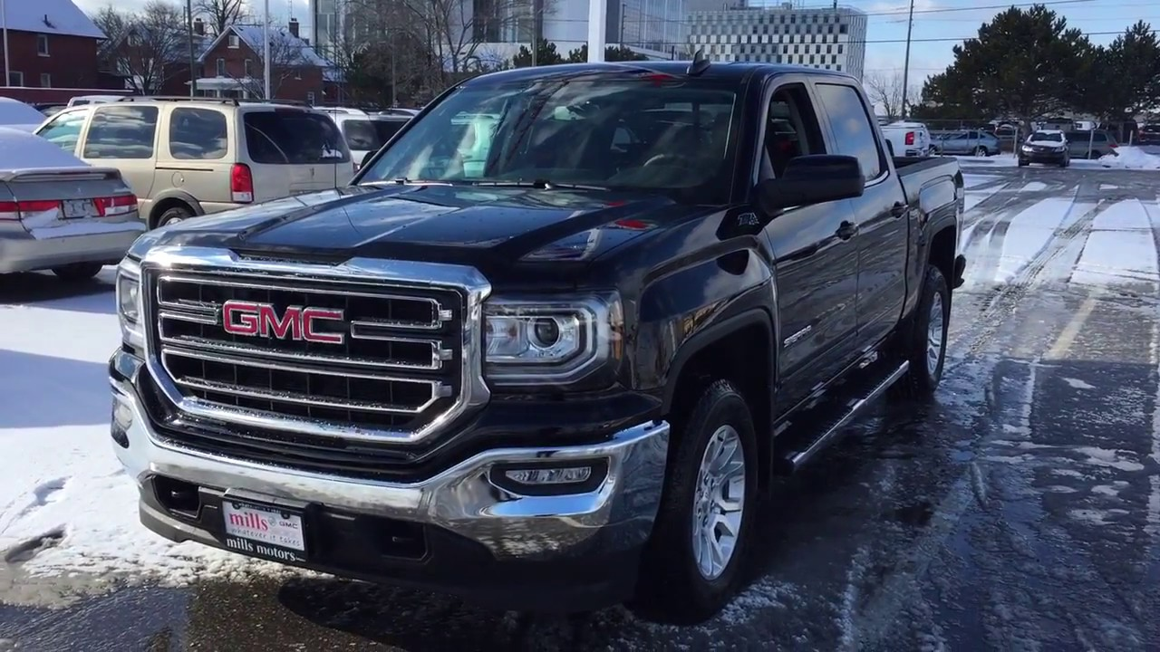 2017 Gmc Sierra 1500 Sle 4wd Crew Cab Kodiak Edition Z71 Suspension Black Oshawa On Stock 170667