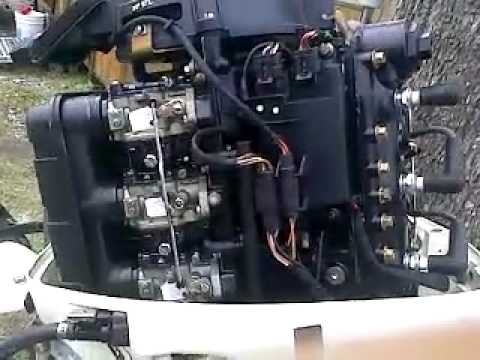 2001 25hp Johnson 3 cylinder YouTube