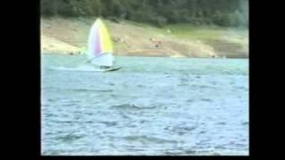 wind surf e tuffi sul lago del centro cadore 1988