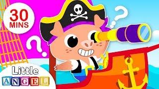 Three Piggies Sail the Sea | Pirate Song | Kids Songs & Nursery Rhymes Little Angel