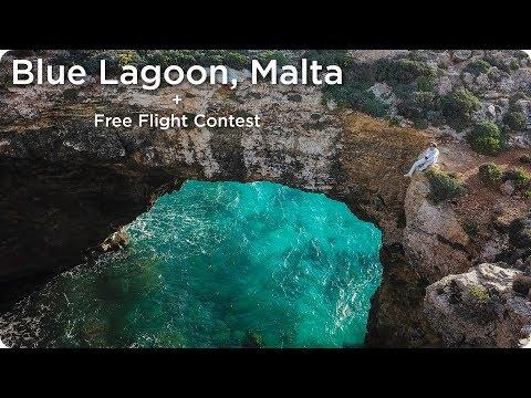 Blue Lagoon Comino Island, Malta! + FREE FLIGHT GIVEAWAY!