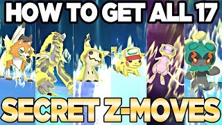 How To Get ALL 17 SECRET Z-Cystals in Pokemon Ultra Sun and Ultra moon | Austin John Plays